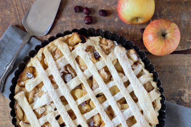 苹果披萨饼图片