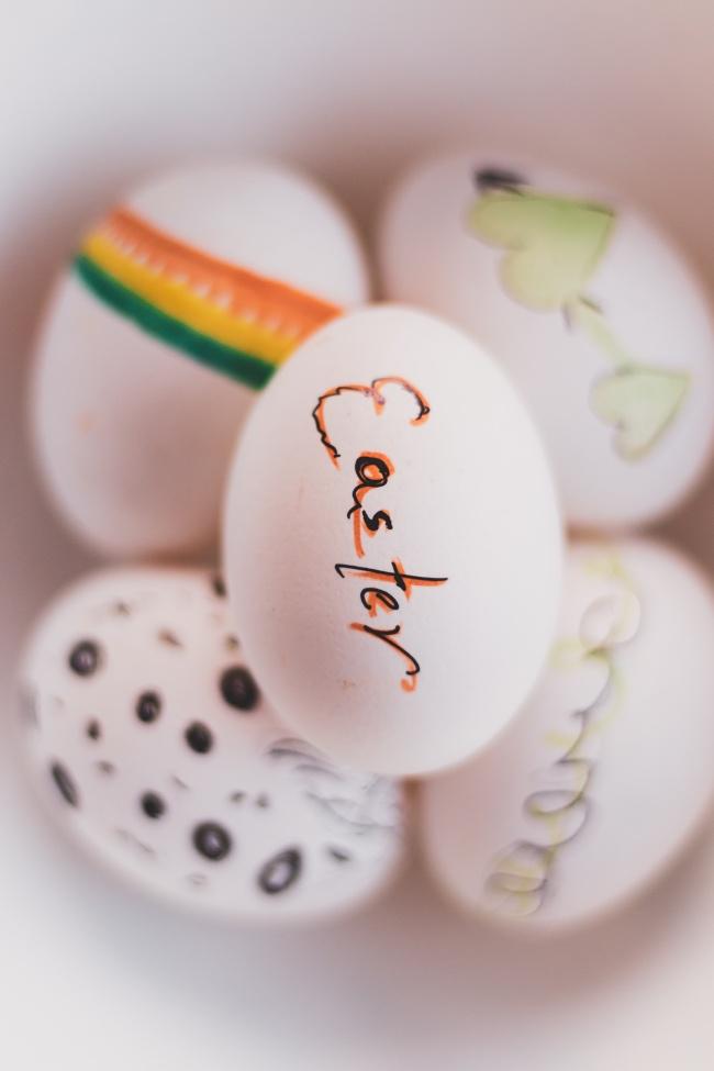 手绘鸡蛋壳精美图片