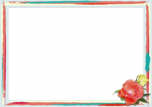 彩色框背景素材图片