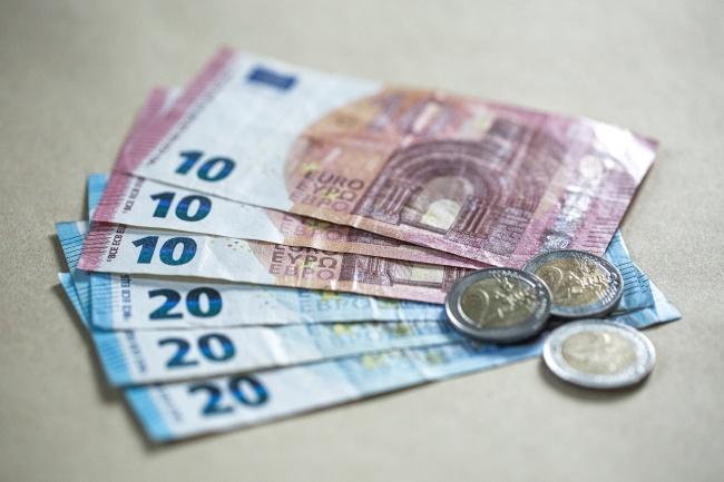 小额欧元现金图片素材