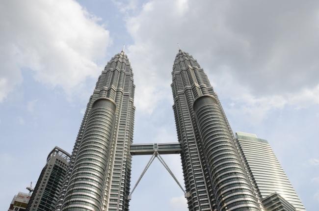 吉隆坡石油双塔图片素材