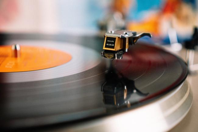 复古黑胶唱片图片
