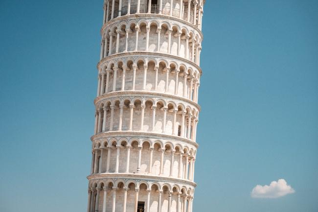 比萨斜塔摄影高清图