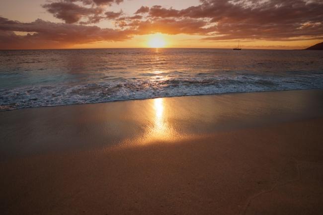 大海夕阳图片下载