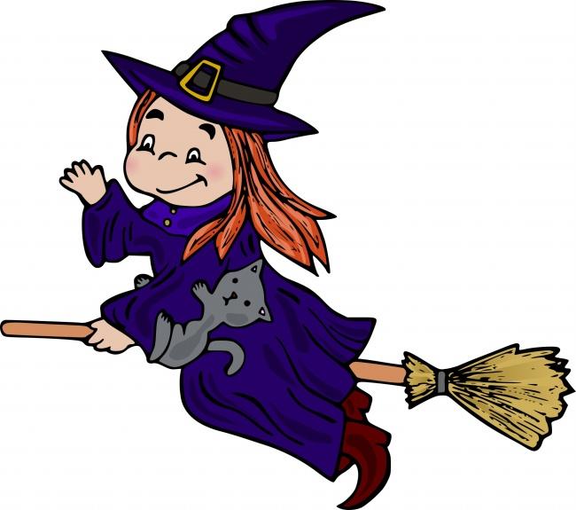 万圣节女巫卡通高清图