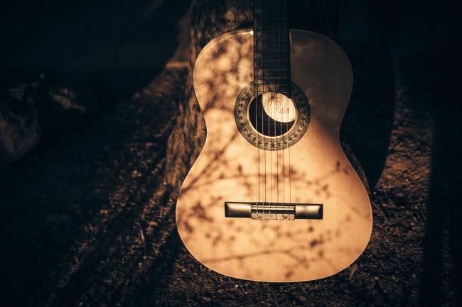 复古旧吉他高清图片