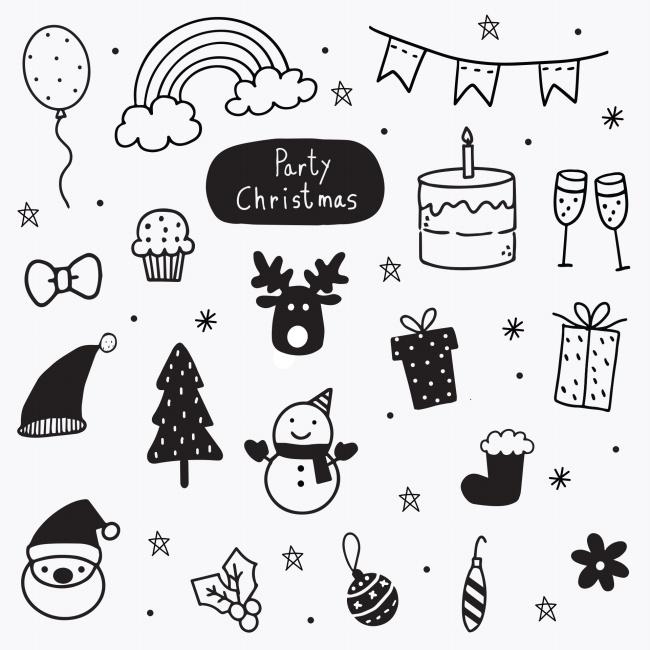 圣诞节儿童简笔画精美图片