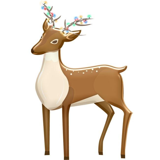 驯鹿可爱卡通精美图片