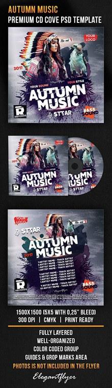 音乐CD封面包装设计psd素材