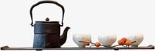 中式茶具家具psd分层素材