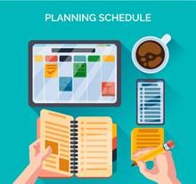 创意制定计划表桌面矢量图片