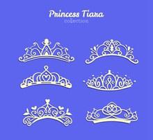 6款美丽公主王冠矢量图下载