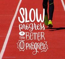 创意跑步人物隽语海报图矢量图