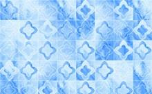 蓝色花纹无缝背景矢量