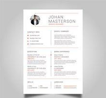 创意商务简历设计矢量下载