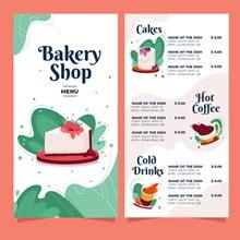 烘焙店菜单模板设计矢量下载